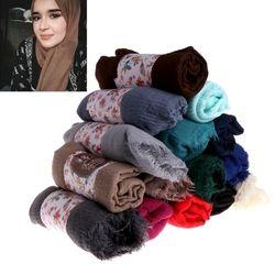 Mujeres arruga nube hijab bufanda musulmán larga estola del abrigo