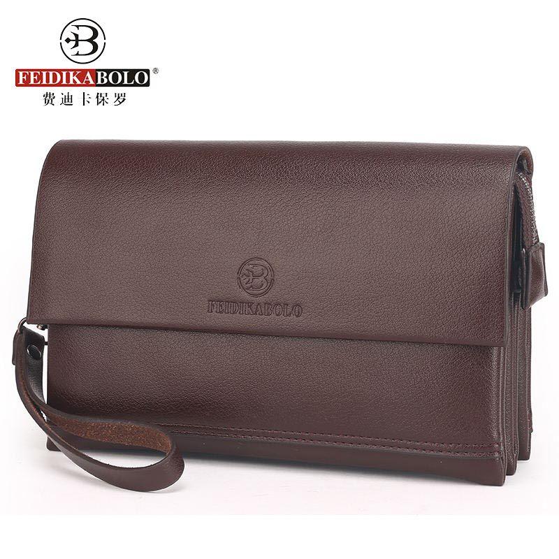 Men's Leather Clutch Handy Bags Business Wallet Men Luxury Brand Male Large Purses Passport Cover Portemonne Portefeuille Homme