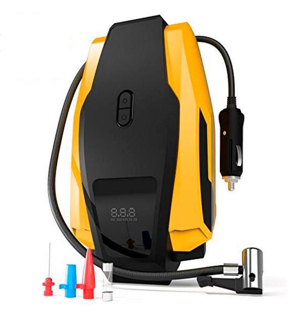 Portable Tire Inflator Pump, 12V 150 PSI Auto Digital Electric Emergency Air Compressor Pump for Car,Truck,SUV,Basketballs