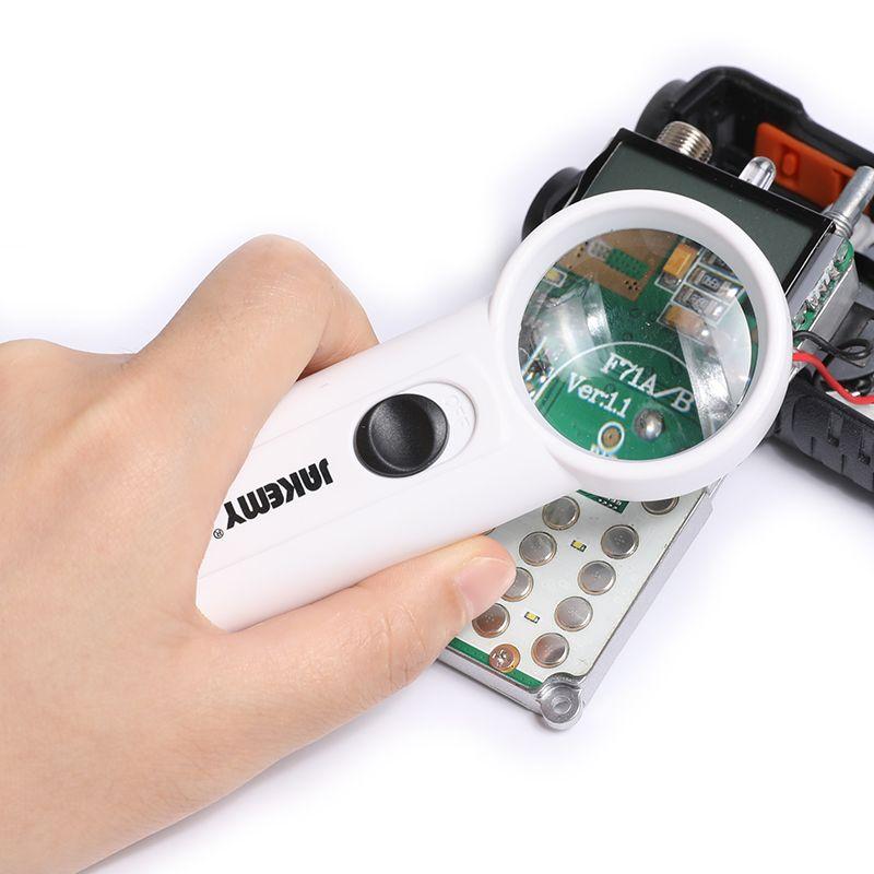 JAKEMY JM-Z19 2 LED 8X Optique Loupe Led Pcb Appareils Tool Outil Informatique Ensemble Kit Électronique Pour la Réparation De Portable