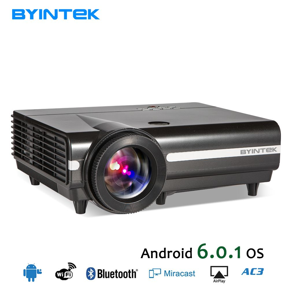 BYINTEK MOON BT96Plus Android Wifi <font><b>Smart</b></font> Video LED Projector Proyector For Home Theater Full HD 1080P Support 4K Online Video