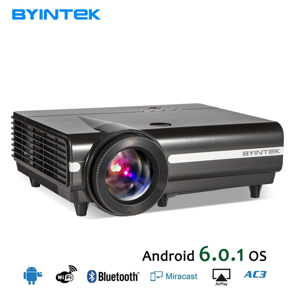 BYINTEK MOON BT96Plus Android <font><b>Wifi</b></font> Smart Video LED Projector Proyector For Home Theater Full HD 1080P Support 4K Online Video