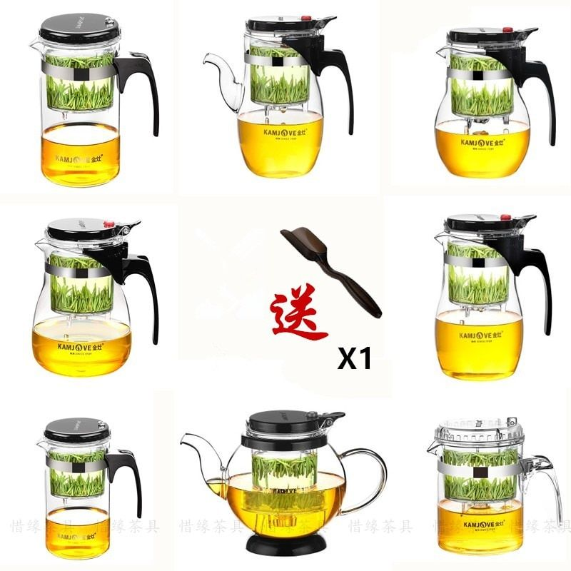 Divers Kamjove verre Kungfu théière PiaoYi Bei thé à thé pratique Kungfu thé ensemble presse AUTO-ouvert Art tasse à thé