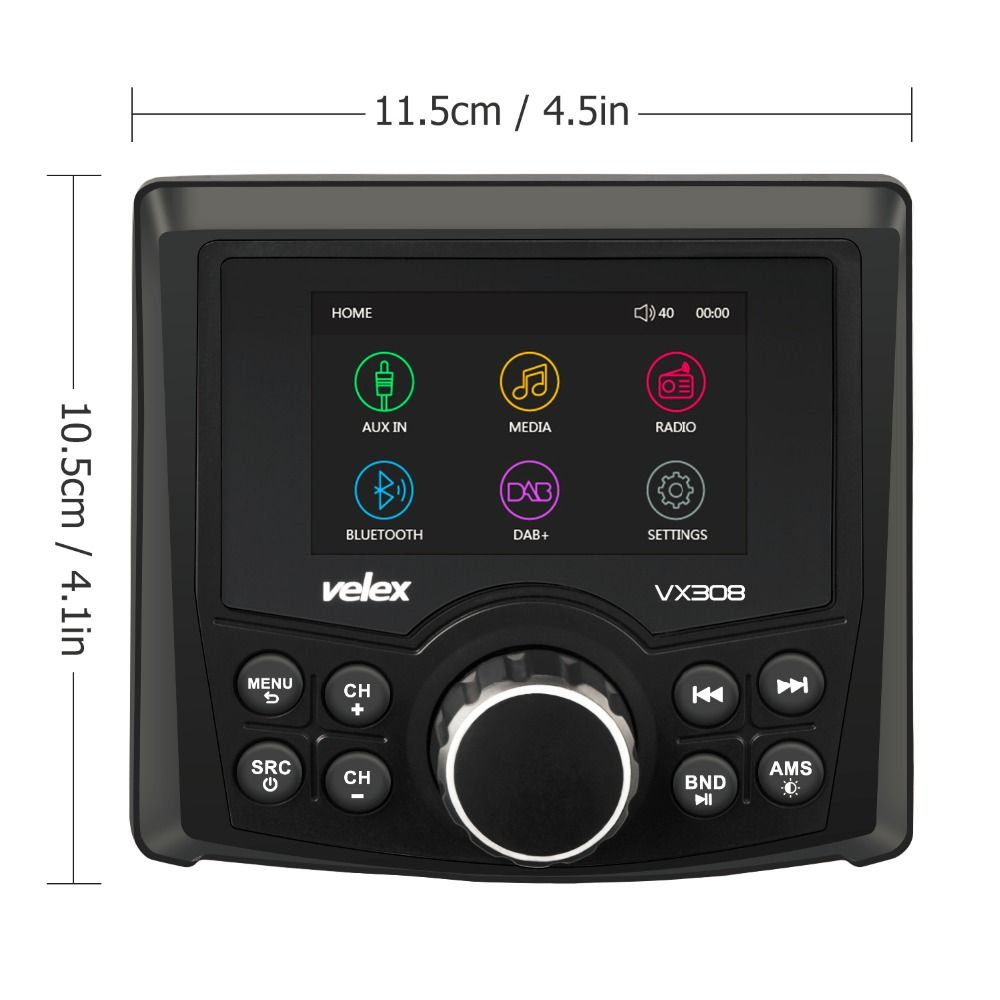 Wasserdicht Bluetooth Marine Digital Media Stereo Empfänger mit Audio/Video-player DAB + AM FM Streaming Musik Boot UTV ATV Spa
