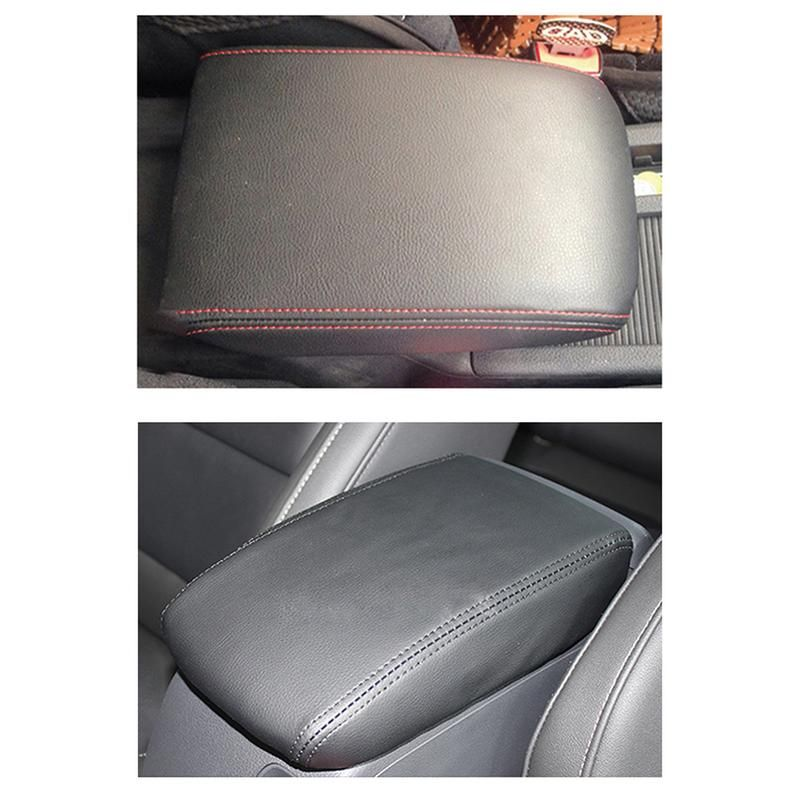 Auto Accessories High Quality Microfiber Leather Central Armrest Box Protective Leather Cover For VW Golf 7 MK7 2013-2017