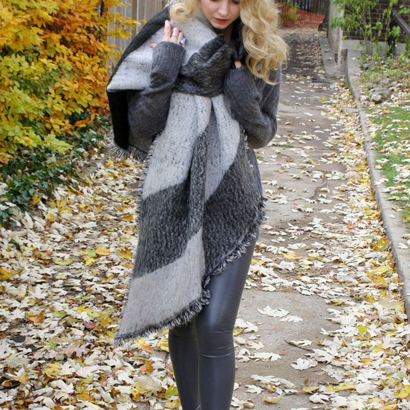 1pcs fashion Women Thick Warm Wool Pashmina Cashmere Stole Winter Scarves Scarf Shawl Wraps