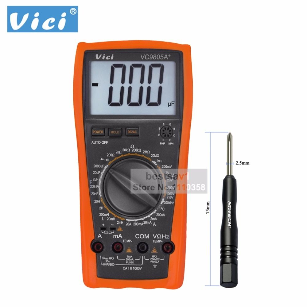 Vici VICHY VC9805A+ Digital Multimeter Tester DMM LCR Meter w Temperature Inductance Capacitance Frequency