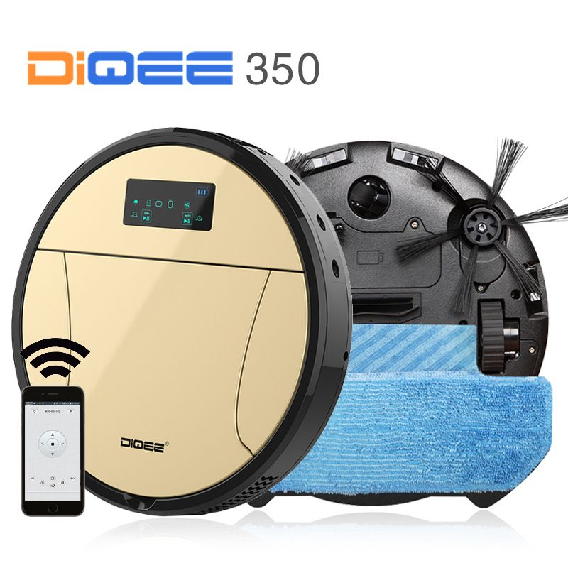 DIQEE 350 Smart Robot Vacuum Cleaner for your Home cyclone Sweeping Dust Sterilize Automatic Planned Clean mop HEPA Filter
