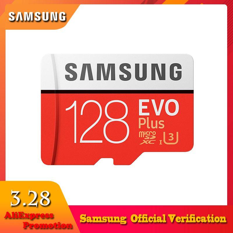 SAMSUNG 100 Mb/s Micro SD Carte 128 GB 32 GB 64 GB 256G Carte Mémoire Class10 U3 U1 Flash TF Carte Microsd pour Téléphone avec Mini SDHC SDXC