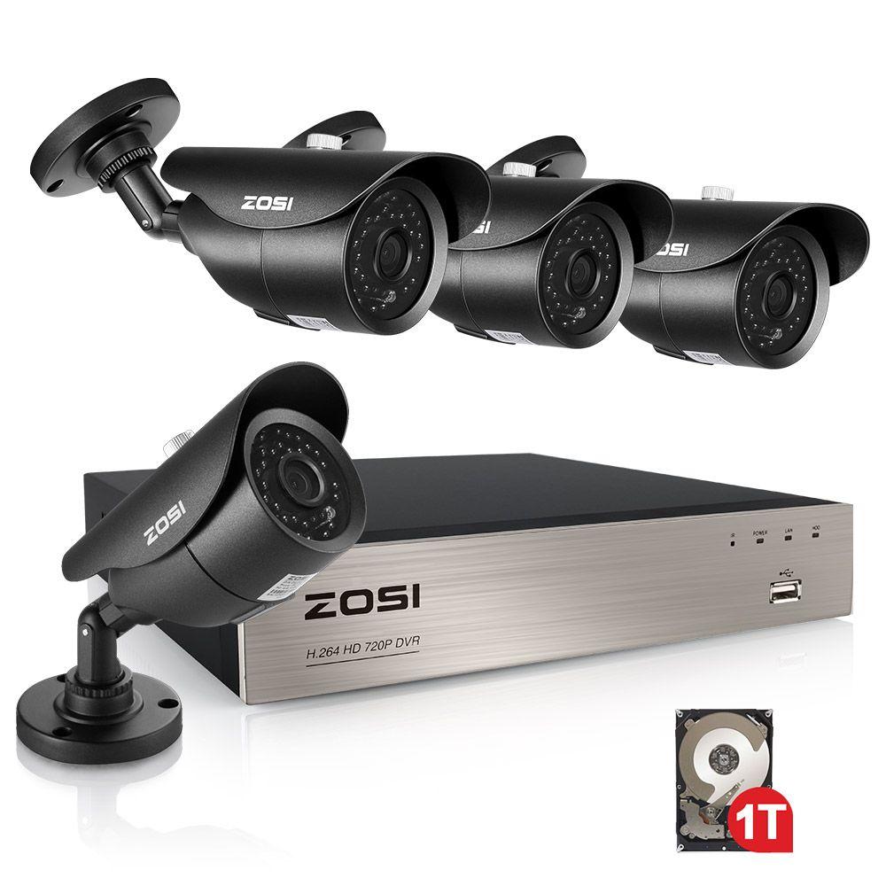 ZOSI 8CH 1080 P HD-TVI Sicherheit Kamera CCTV System P2P IR Nacht Vision 4 PCS 2.0MP Outdoor HD Kamera Überwachung kit APP Ansicht