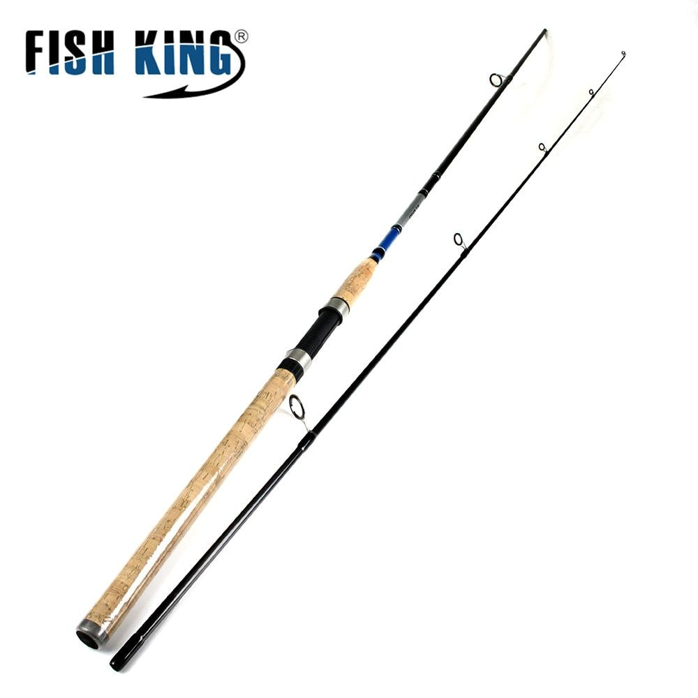 FISH KING 99% Carbon 2.1M 2.4M <font><b>2.7M</b></font> 2 Section Soft Lure Fishing Rod Lure Weight 3-50g Spinning Fishing Rod For Lure Fishing