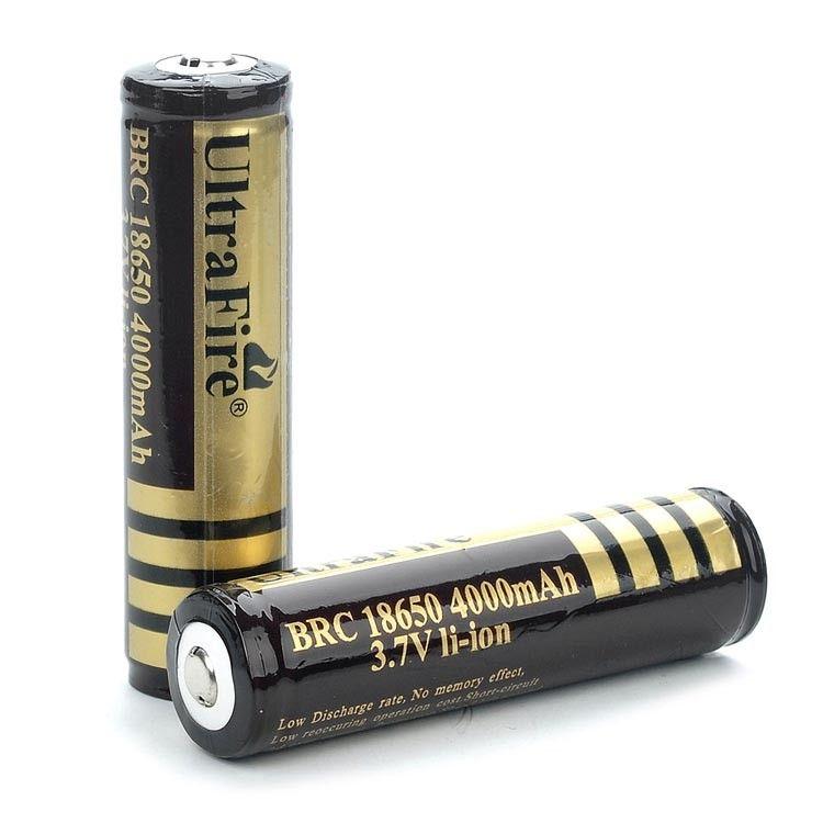 2 unids/lote 18650 baterías de Alta Calidad 18650 4000 mAh 3.7 V PCB Protegidas Recargable Li ion