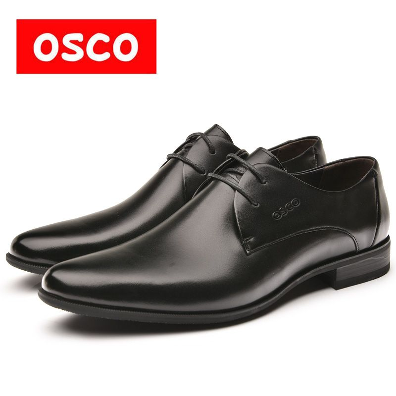 OSCO Spring summer formal genuine leather business casual Shoes men dress <font><b>office</b></font> luxury shoes male breathable Gentleman shoes