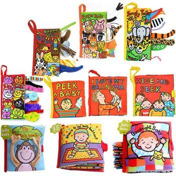 Mignon de bande dessinée infantile tout-petits jouets développement précoce animaux livres en tissu doux pour bébé enfants éducation apprentissage histoire livres