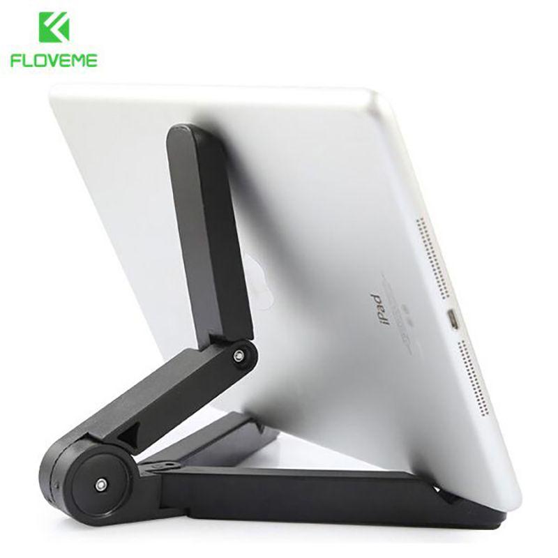 FLOVEME Flexible Tabletten Telefon Standplatz-fall für iPad 2/3/4 Luft 2 Mini für iPhone 4 5 s 6 6 S Plus Für Galaxy S5 S6 Rand 360 Gefaltet