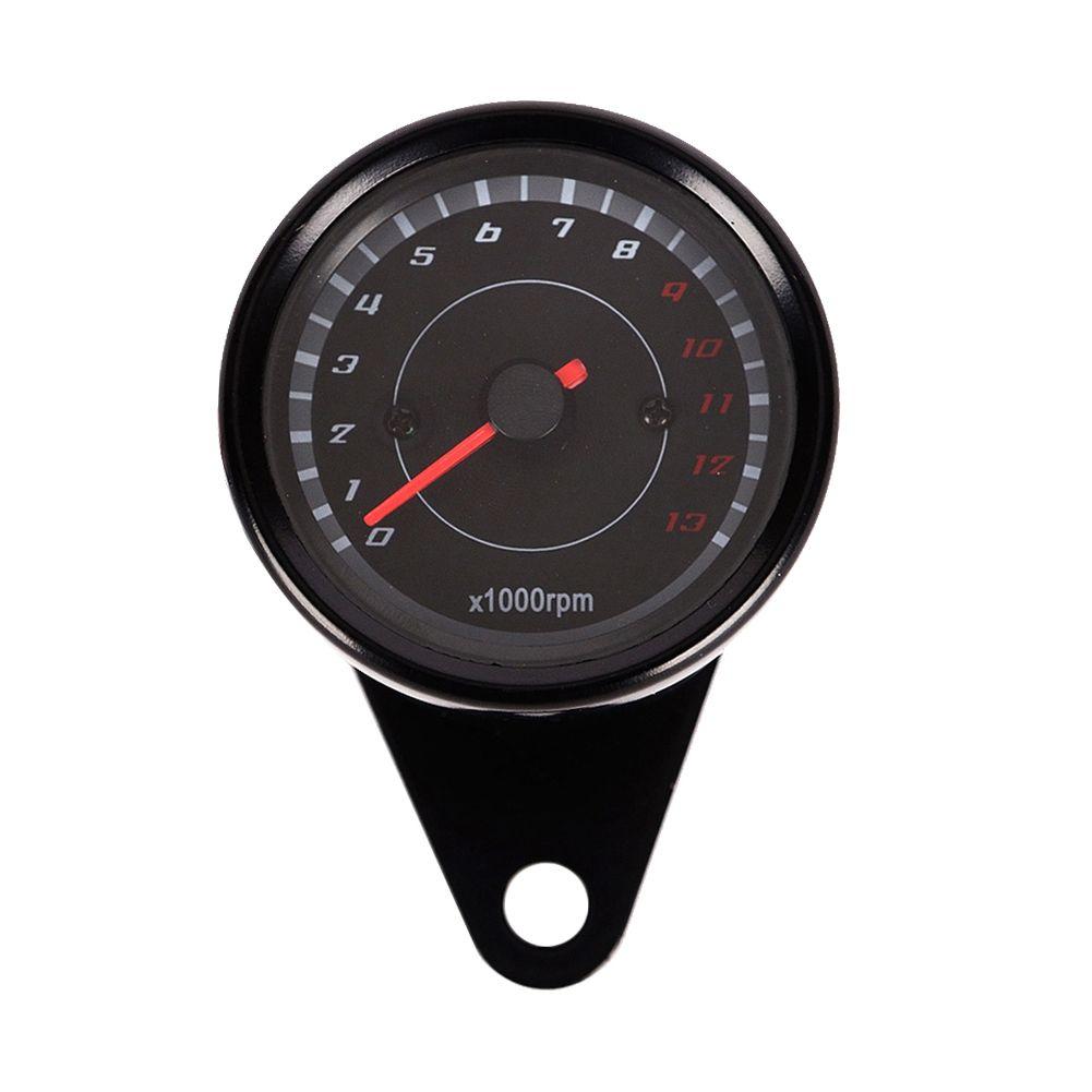 Universal 12 v Motorrad Tachometer Tacho Gauge Tachometer mit Led-hintergrundbeleuchtung Nacht Licht Motorrad Moto Instrument Zubehör