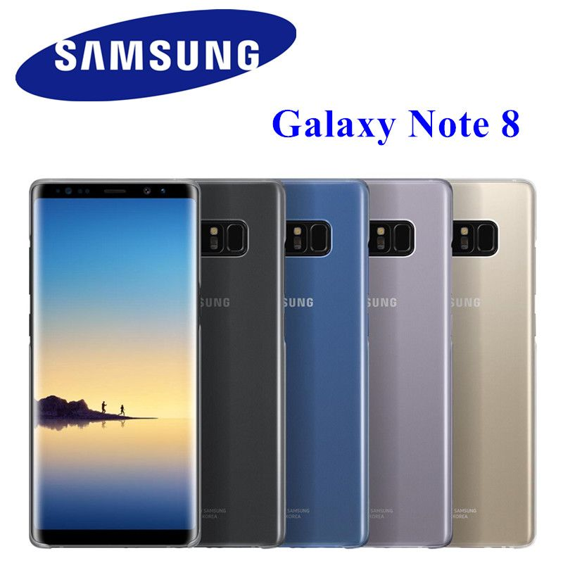 Original Clear Cover Slim Transparent Back Case Protective COVER For Samsung Galaxy Note 8 N9500 N950F EF-QN950C