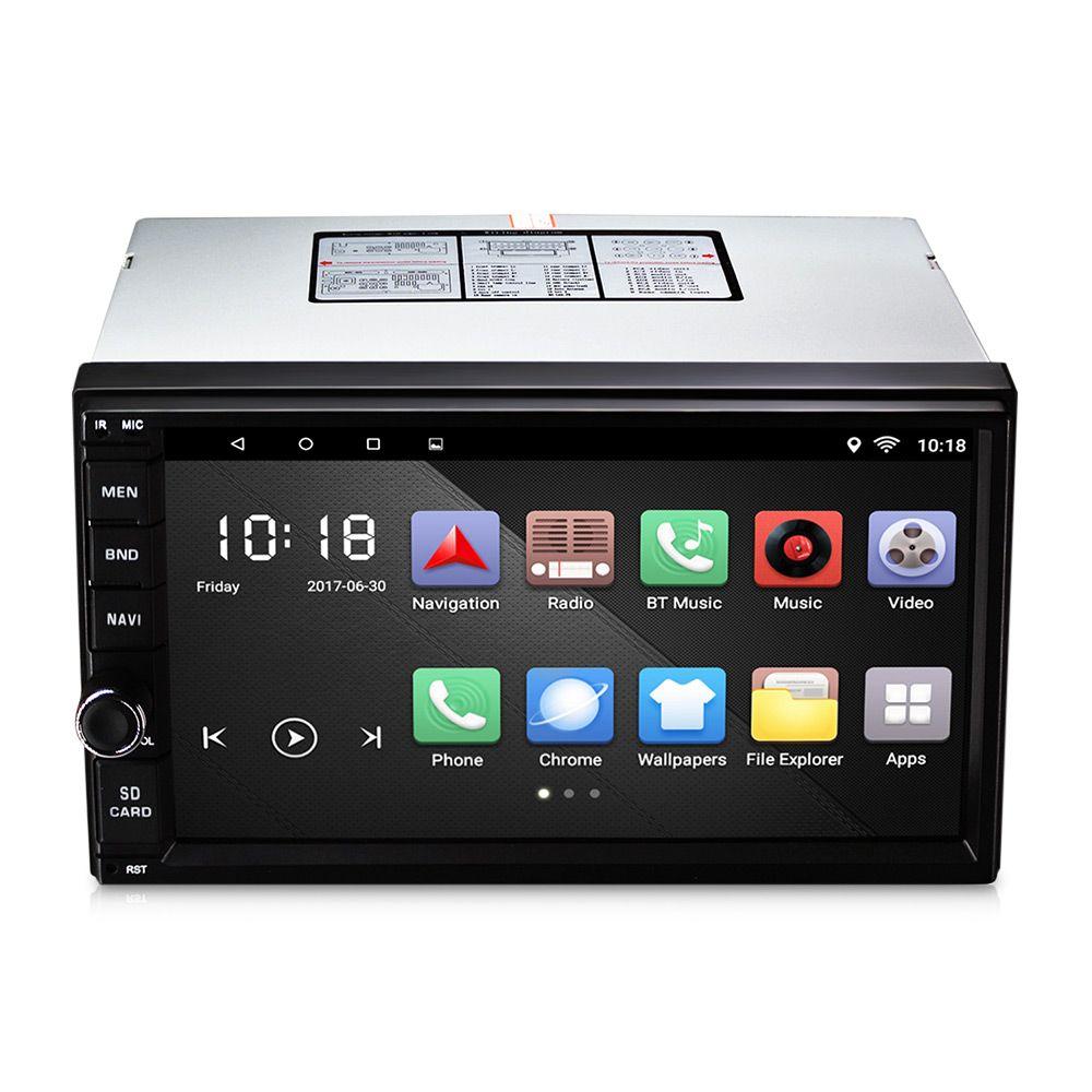0012 Universal Car Multimedia Player Auto radio 7-inch TFT Mirror Link GPS Navigation Radio Bluetooth Capacitive Touch Screen