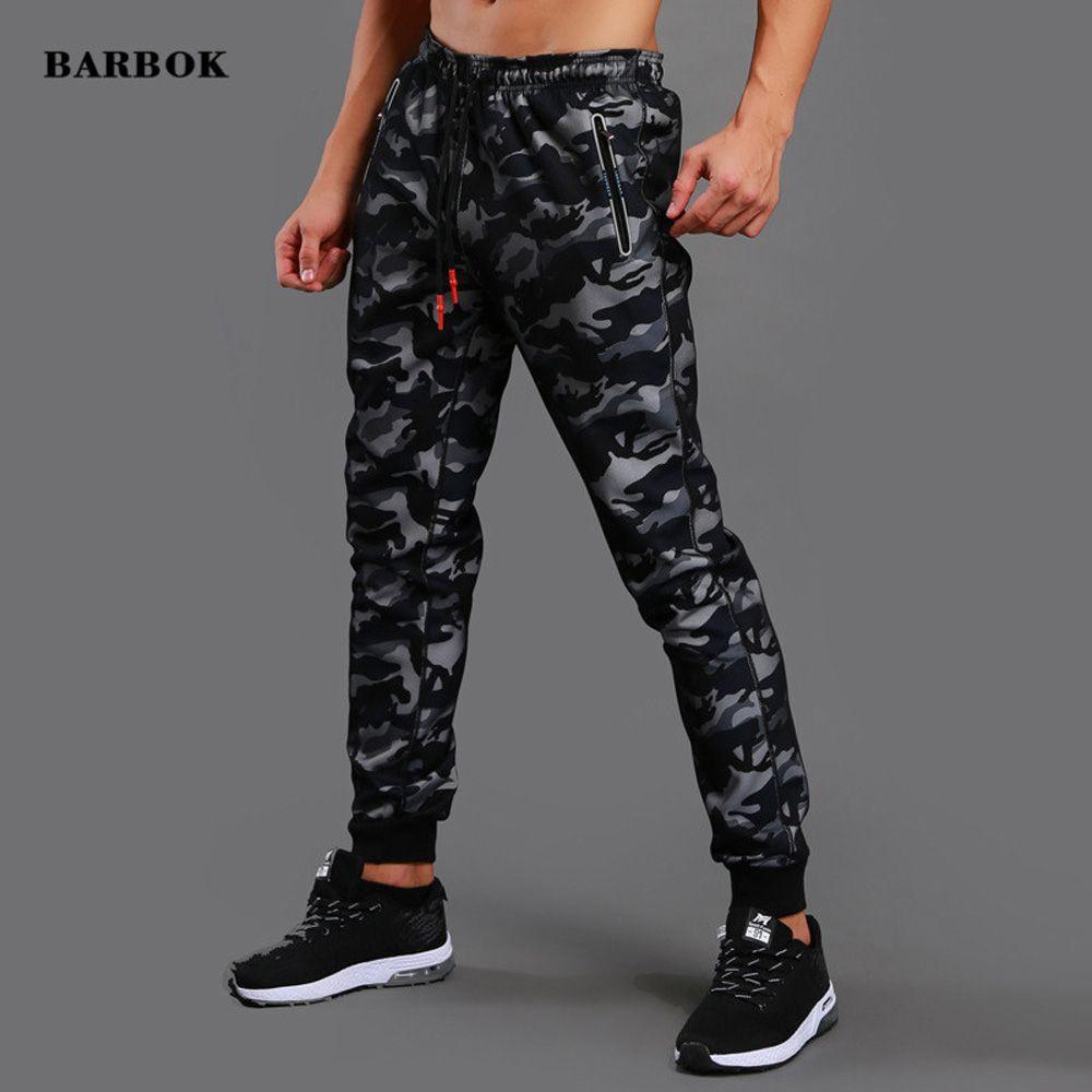 BARBOK Men Jogger Pants Running Training Pants Elastic Sweatpants Autumn Winter Workout Bodybuilding Skinny Trousers Comfortable