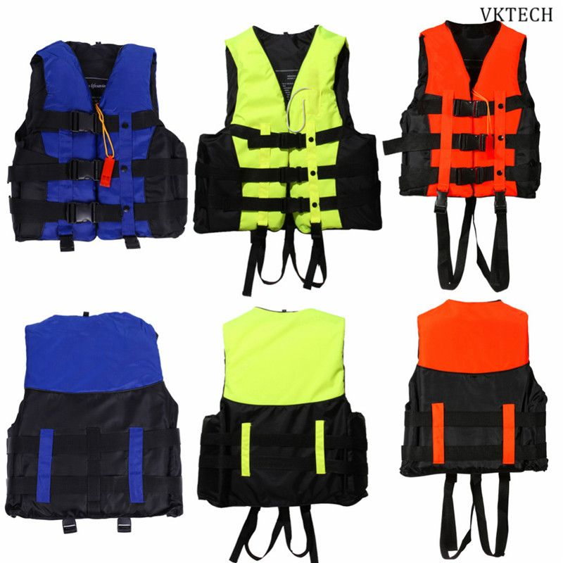 Adult Life Jacket Vest Swimwear Life Vests Jackets with Whistle for Water Sports Man Jacket Swimming Boating Drifting Jacket
