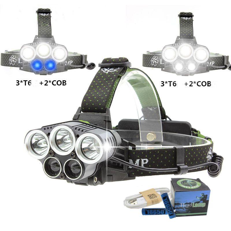 Brightfire LED Headlamp 5 XM-L T6 Q5 Headlight 15000 lumens LED Headlamp Camp Hike Emergency Light Fishing Outdoor
