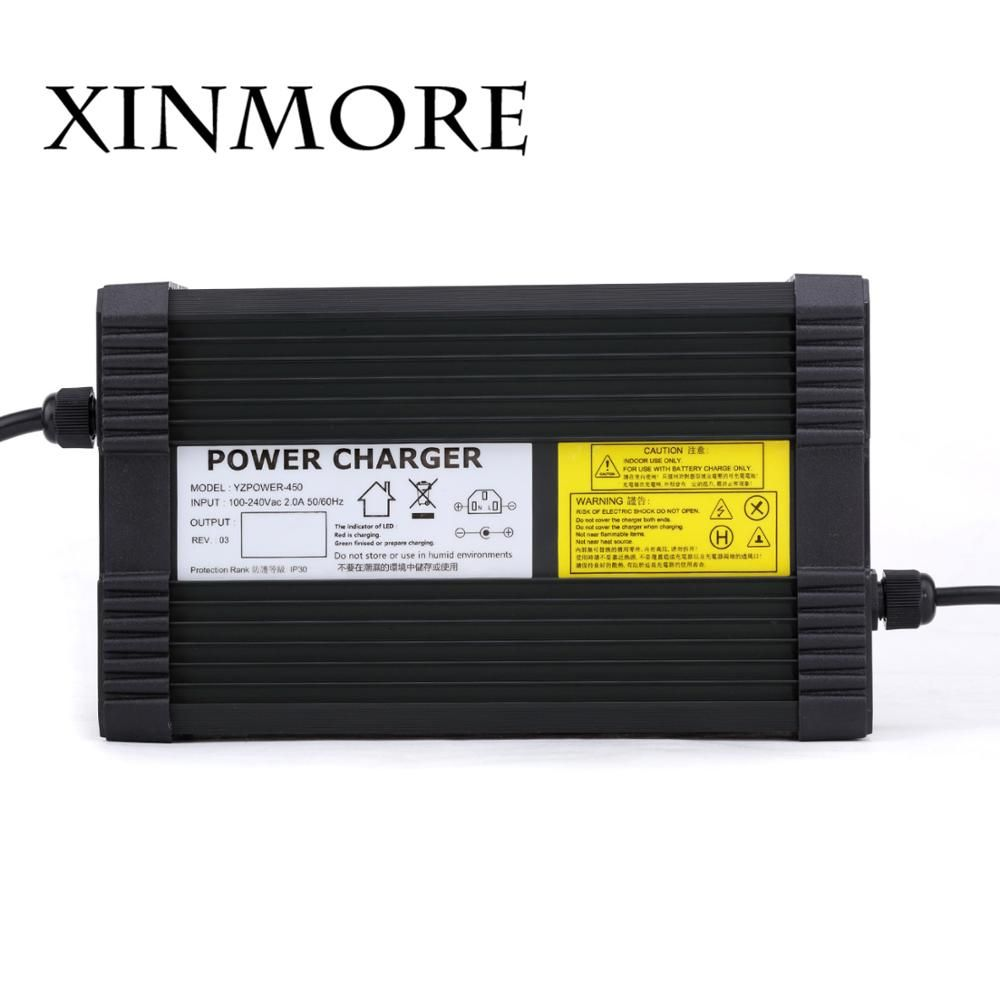XINMORE AC-DC 73V 5A Lifepo4 lithium Battery Charger for 60V (64V) Power Polymer Scooter Ebike for Electric TV Receivers