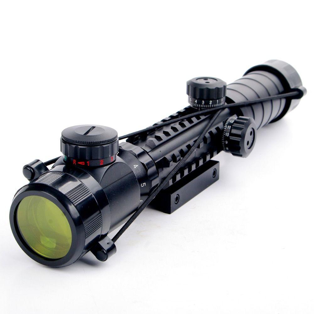 Nouveau 3-9x32EG lunette de visée rouge et vert illuminé télémètre réticule fusil de chasse à l'air portée de fusil avec couvercle d'objectif livraison gratuite