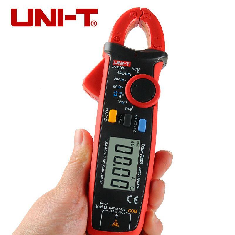 UNI T UT210E TRUE RMS numérique pince mètre AC DC multimètre gamme automatique pince de courant pinces voltmètre ampèremètre ohmmètre VFC NCV