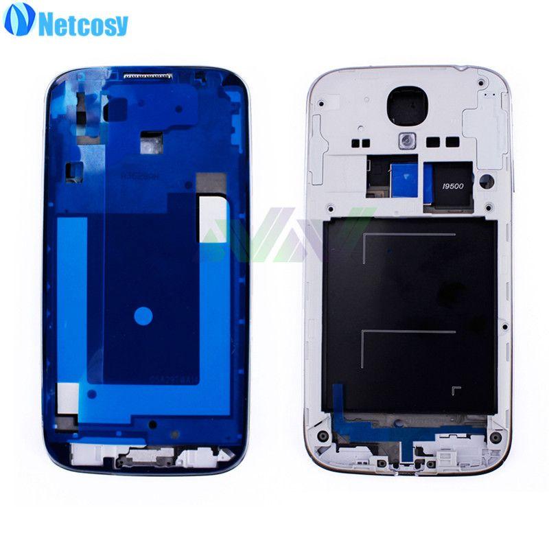 Netcosy Gehäuse-set Mittel Mid Frame Lünette Ein Board Für Samsung S4 i9500 Ersatzteile Reparatur Ersatz Hohe Qualität