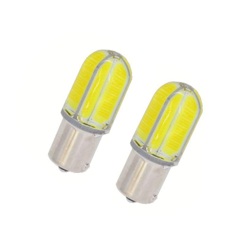Voiture-style Date 2x P21W 1156 BA15S 8 COB 360 Degrés LED De Voiture queue Ampoule De Frein Lumière Auto Inverse Lampe DRL Feux de Brouillard DC 12 v 3 W