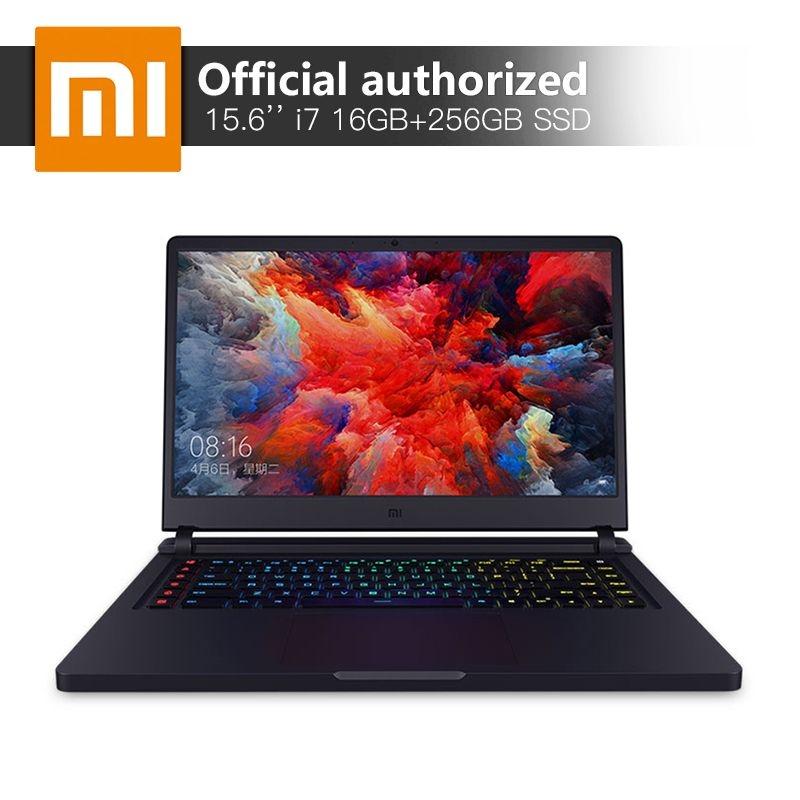 Xiaomi Gaming Notebook 15.6'' Intel Core i7 16GB DDR4 256GBSSD+1TB Laptop GTX1060 6GB GDDR5 Windows10 Backlit Keyboard Computer