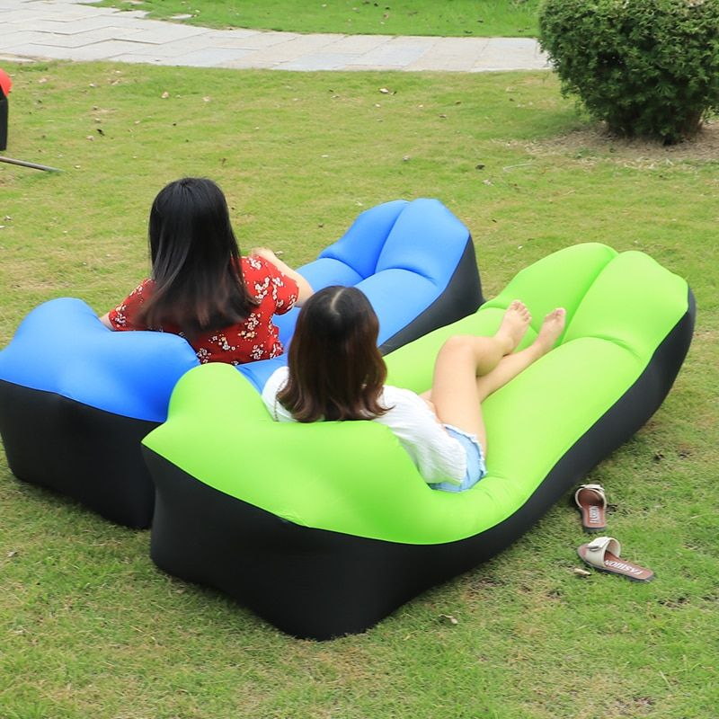 Outdoor inflatable sofa for the camping nyoln ripstop air sofa Beach bed Easy to carry lazy bag couch inflatable camping sofa