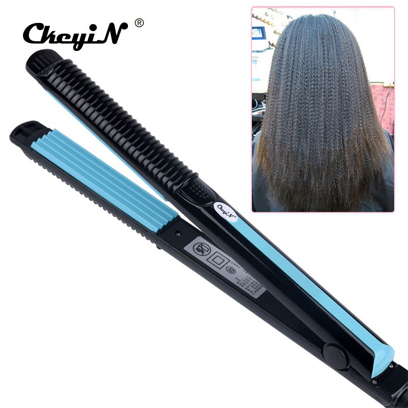 Temperature Control Electric Hair Straighteners Straightening Corrugated Iron Hair Crimper Corn Plate Styling Tools 478