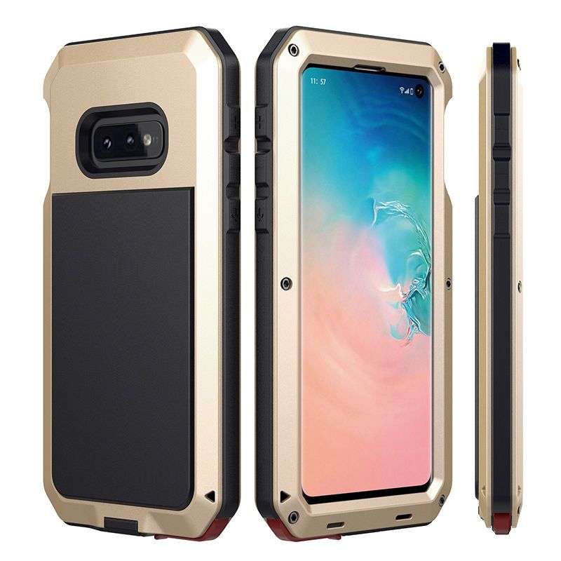 Doom Armor Dropproof Metal Aluminum Case + Silicon Case for Samsung Galaxy S10e S10 Plus Shockproof Protective Cool Cover