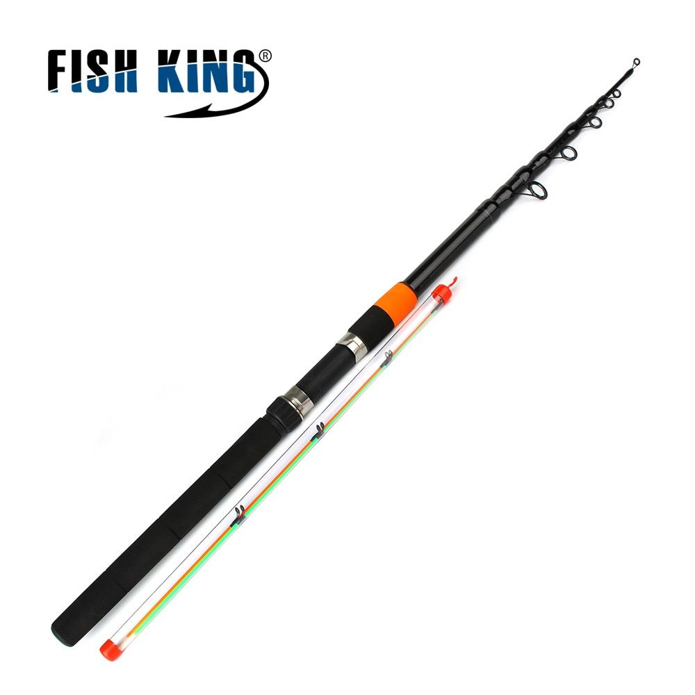 Fish King Feeder rod C.W 120g Extra Heavy Telescopic Fishing Feeder Rods 3.0m-3.9m 2 Section 60% Carbon Fiber