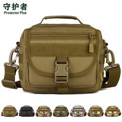 Protector Plus K315 Olahraga Outdoor Tas Kamuflase Nilon Taktis Militer Molle EDC Pouch Hiking Messenger Bag