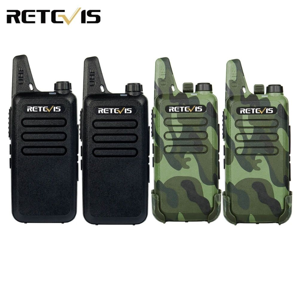 4pcs Handy Walkie Talkie Retevis RT22 2W 16CH UHF 400-470MHz CTCSS/DCS VOX Scan Ham Radio Hf Transceiver Portable 2 Way Radio