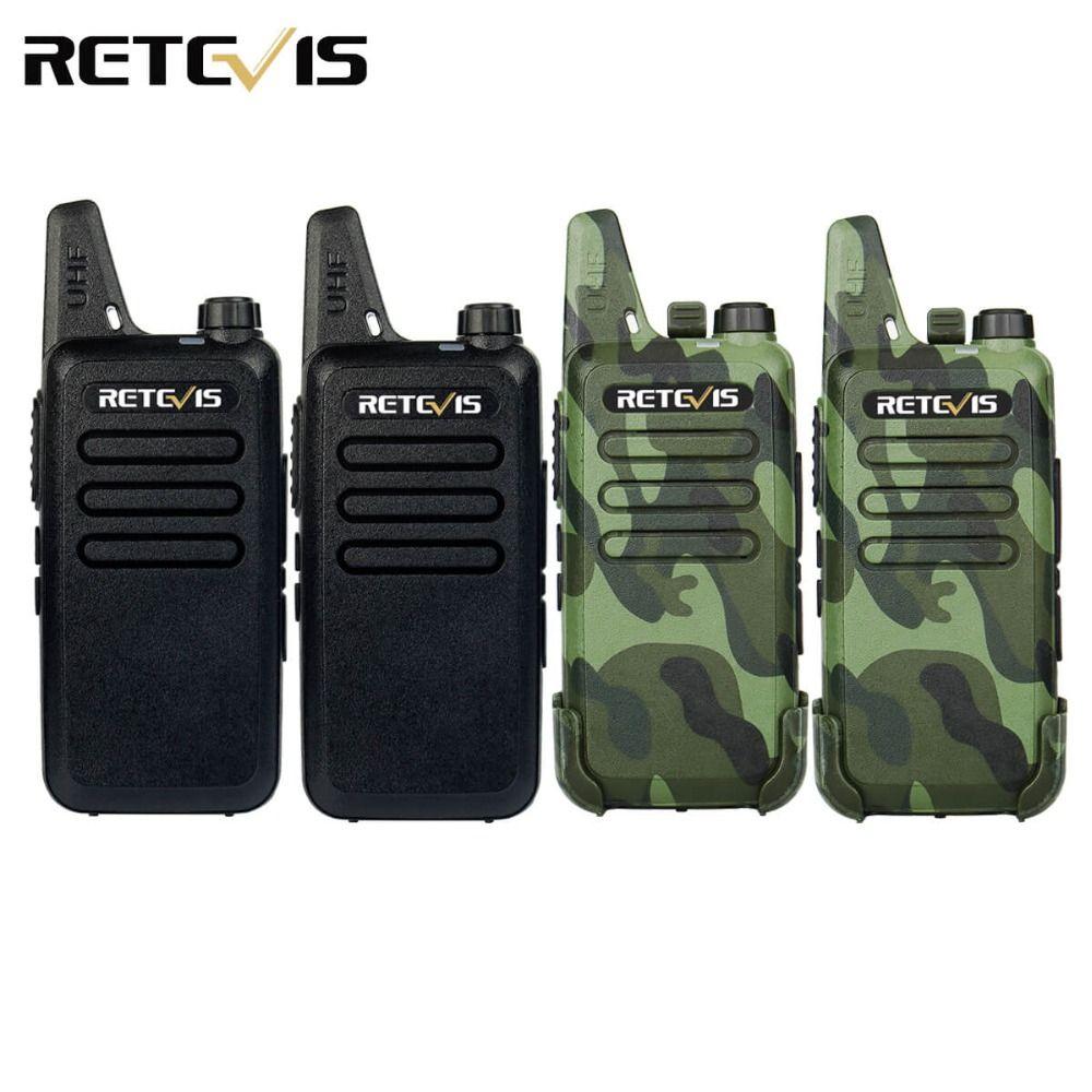 4pcs Handy Walkie Talkie Retevis RT22 2W 16CH UHF 400-470MHz CTCSS/DCS VOX Scan Ham Radio Hf Transceiver Portable 2 Way Radio