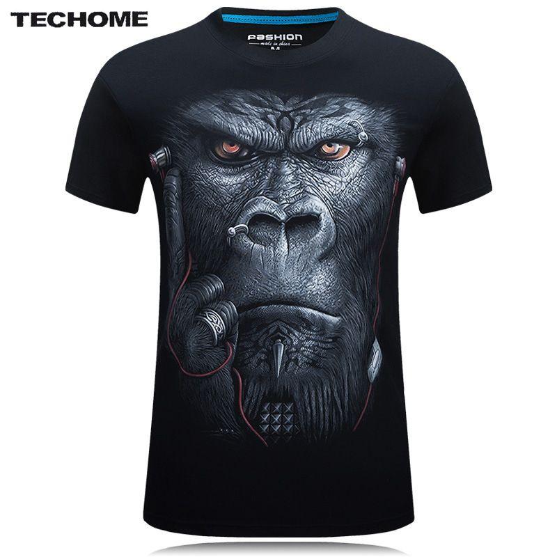 Brand 3D T Shirt Men Hip Hop T-shirt 5XL 6XL Plus Size Mens Funny T Shirts Luxury Brand Camiseta Animals Print Tee Shirt Homme