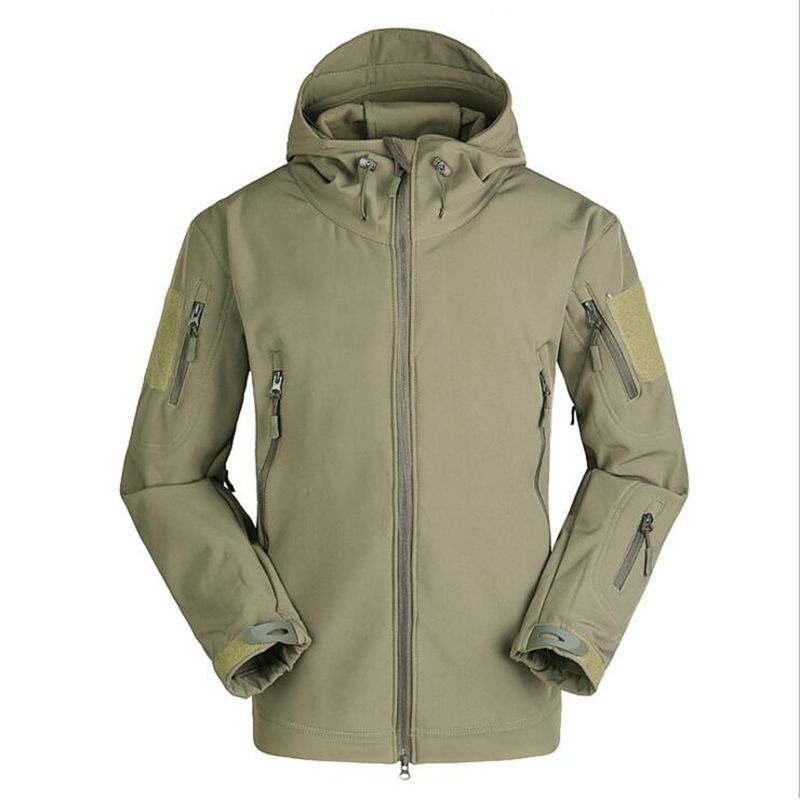 Autumn Men's Military Camouflage Fleece Jacket Shark Skin Army Tactical Clothing Multicam Male Camouflage Windbreakers Winter