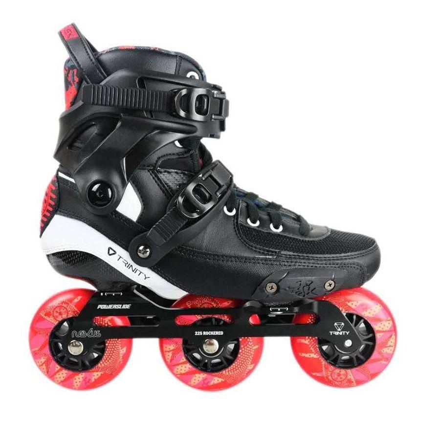 2019 Original Power TAU TRINITY 3*90mm Carbon Fiber Geschwindigkeit Inline Skates Erwachsene Roller Skating Schuhe Freies Skating patines