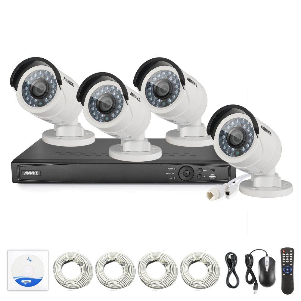 ANNKE Surveillance System 8CH HD 1520P 4MP NVR IP Network PoE 2688*1520P CCTV Camera Security System Surveillance Kit NVR Kits
