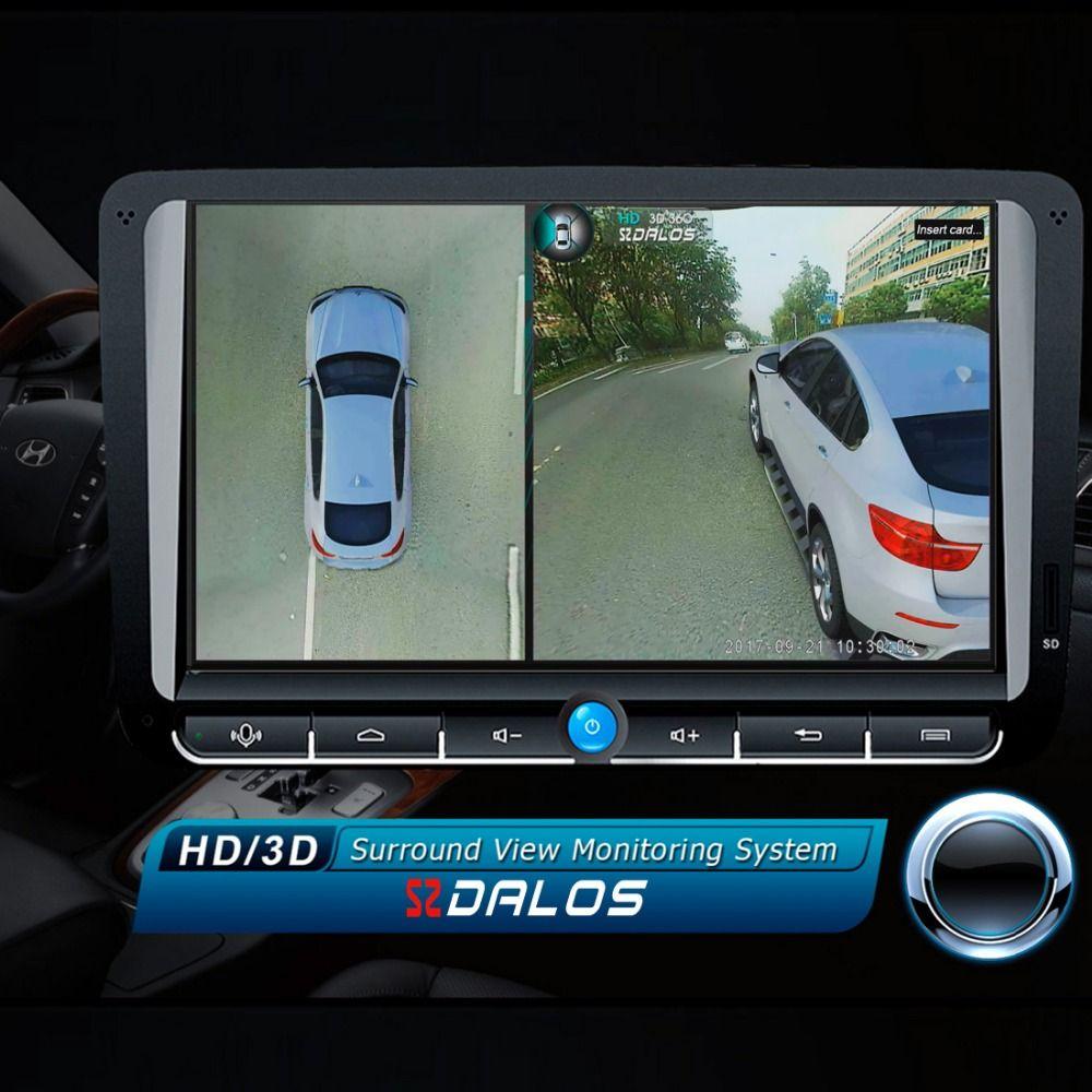 SZDALOS Original Newst HD 3D 360 Surround View System driving support Bird View Panorama System 4 Car camera 1080P DVR G-Sensor