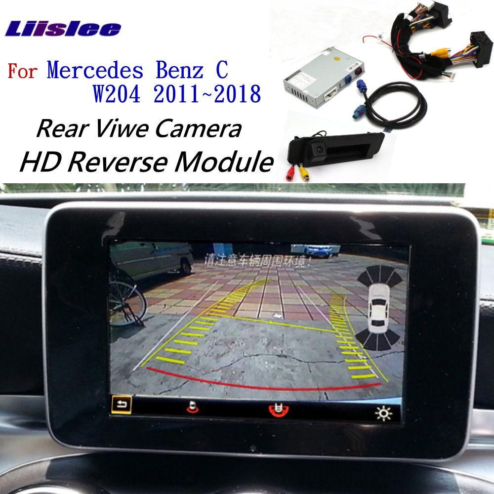 Liislee Vorne Rückansicht Cam Für Mercedes Benz C W204 2011 ~ 2018 Adapter Original Bildschirm upgrade Display backup Kamera decoder