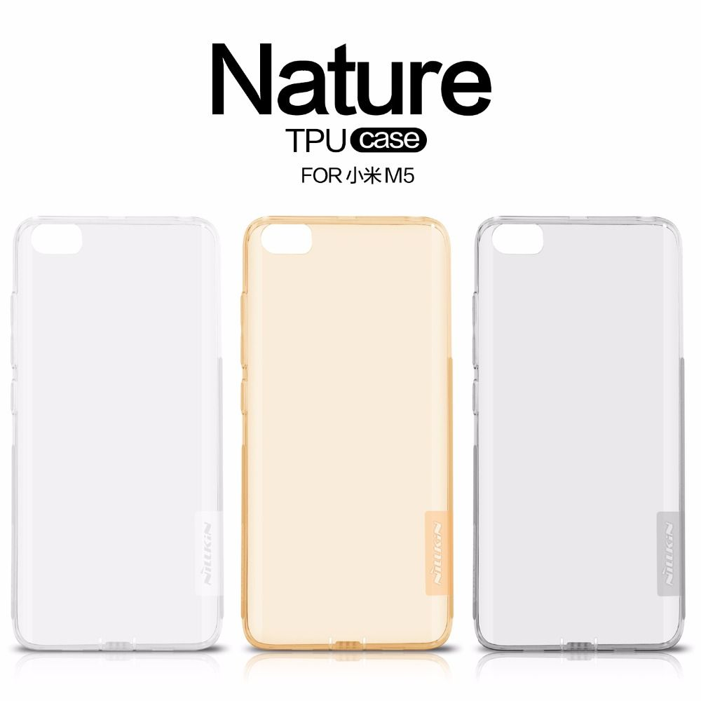 Original Nilkin TPU 0.6mm Ultra thin Phone Cases Capa for Xiaomi Mi5 M5 Mi 5 Silicone Cover Case with Retail Package
