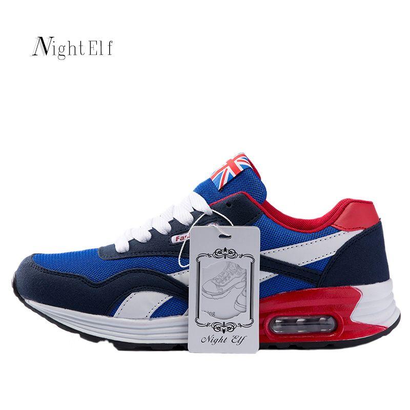 Night Elf zapatos corrientes hombres zapatos deportivos transpirable 2017 verano hombres zapatillas air Mesh hombres Rojos Zapatos de paseo vida