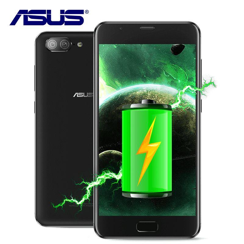 NOUVELLE D'origine ASUS Zenfone 4 X015D Octa Core 5000 mAh Double Retour caméras MT6750 Android 7.0 3 GB RAM 32 GB ROM 5.5 pouce Mobile Téléphone