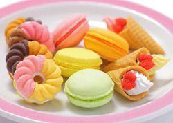 Подарки на день Святого Валентина/французское десертное мороженое Круг хлеб малон ластик/Съемная резиновая полировка/ластики Лидер продаж...