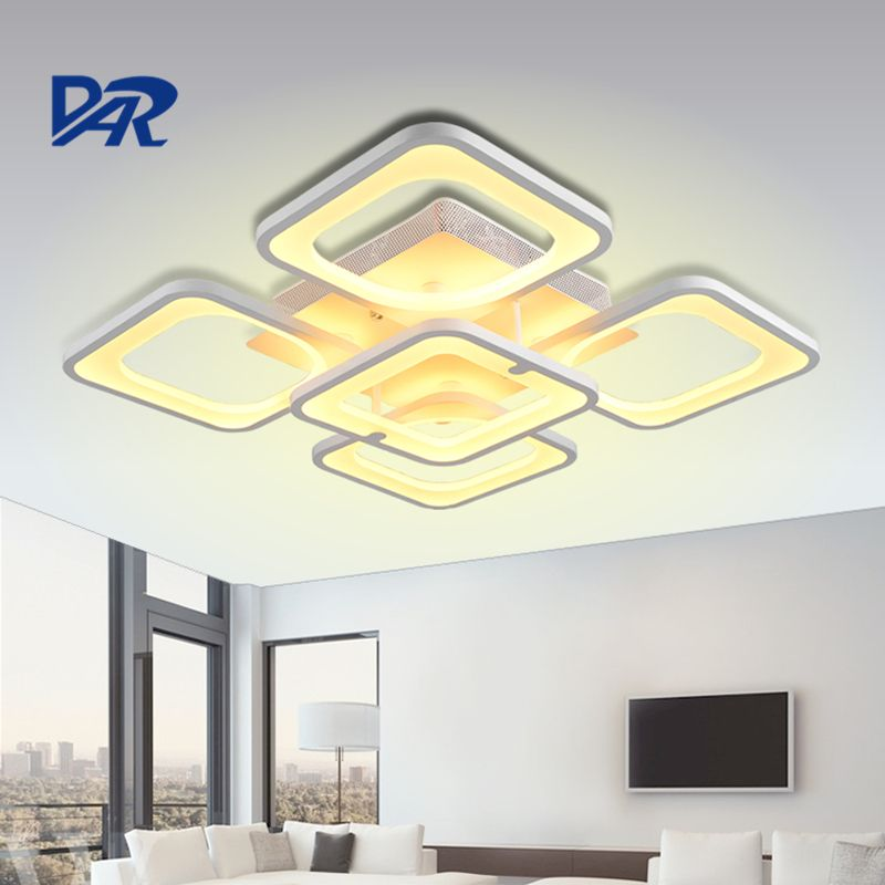 Modern LED Ceiling Lights 5/8 Heads Rectangle Acrylic Ceiling Lamp For Living Room Bedroom Luminaria Plafonnier Led Moderne Sale