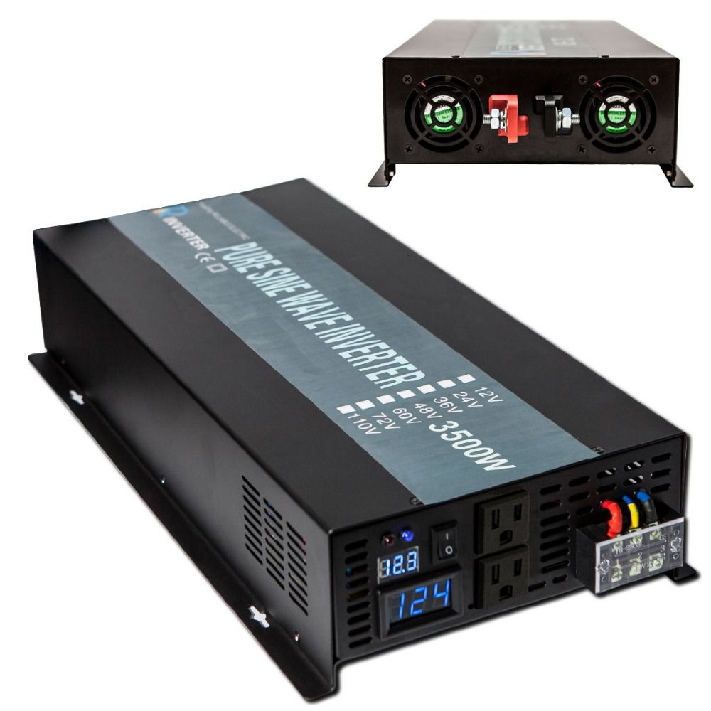 Reine Sinus-wechselrichter 12 V 220 V 3500 Watt Solarmodul Wechselrichter Spannungswandler 12 V/24 V/48 V DC zu 120 V/220 V/240 V AC Fernbedienung